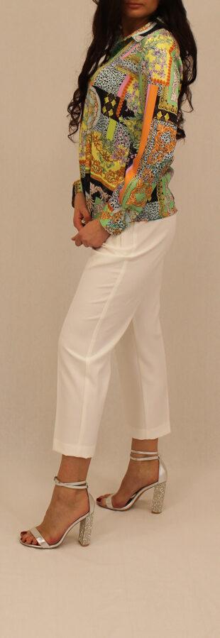 Baltos-šampaninės spalvos Vicolo klasikinės kelnės