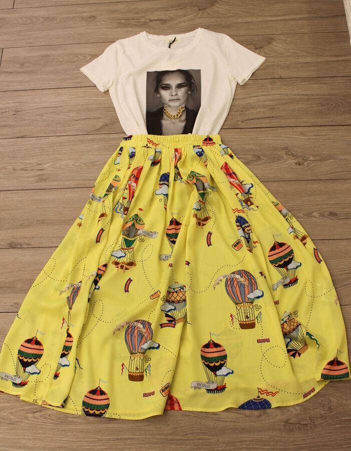 Geltonas Vicolo sijonas