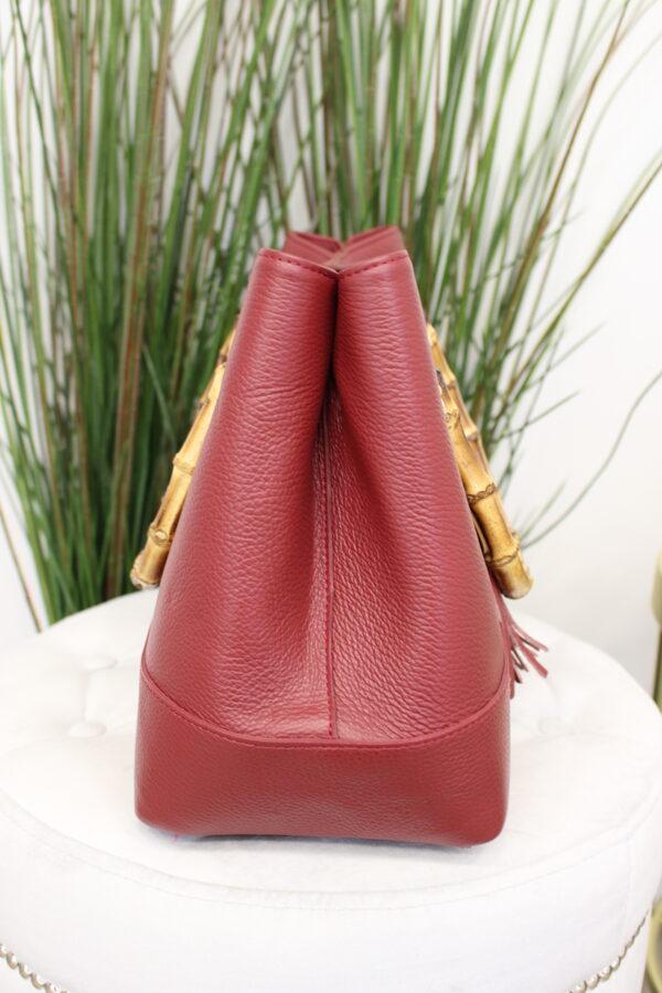 Raudona odinė rankinė