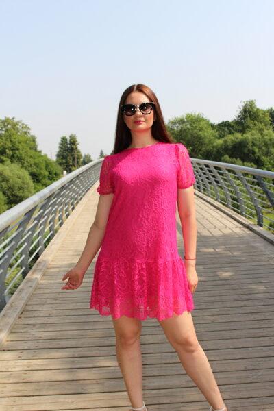 Rožinė suknelė